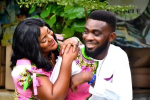 A pre wedding picture of a lovely couple.